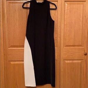 WHBM black/white dress